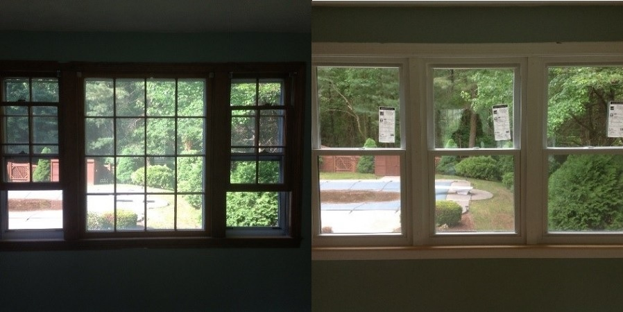 Before Amp After Double Hung Window Replacement Photos Seacoast Replacement Windows